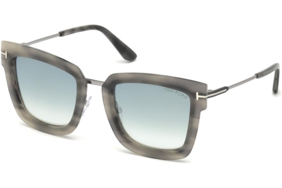 62ee2501f9ca4 ... Tom Ford FT0573 Lara-02 Sunglasses in 55X - Coloured Havana   Blue  Mirror ...
