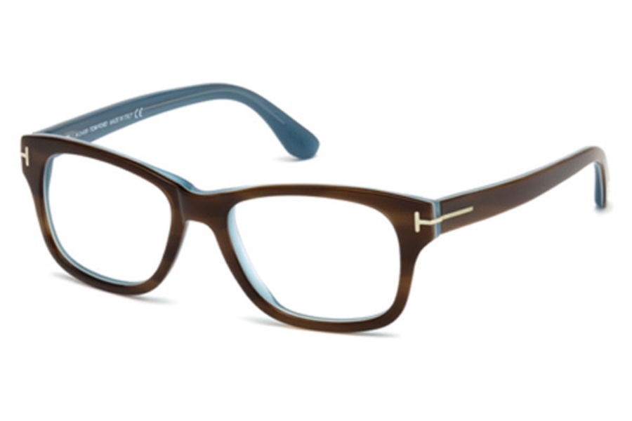 Tom Ford FT5147 Eyeglasses in 056 Medium Brown
