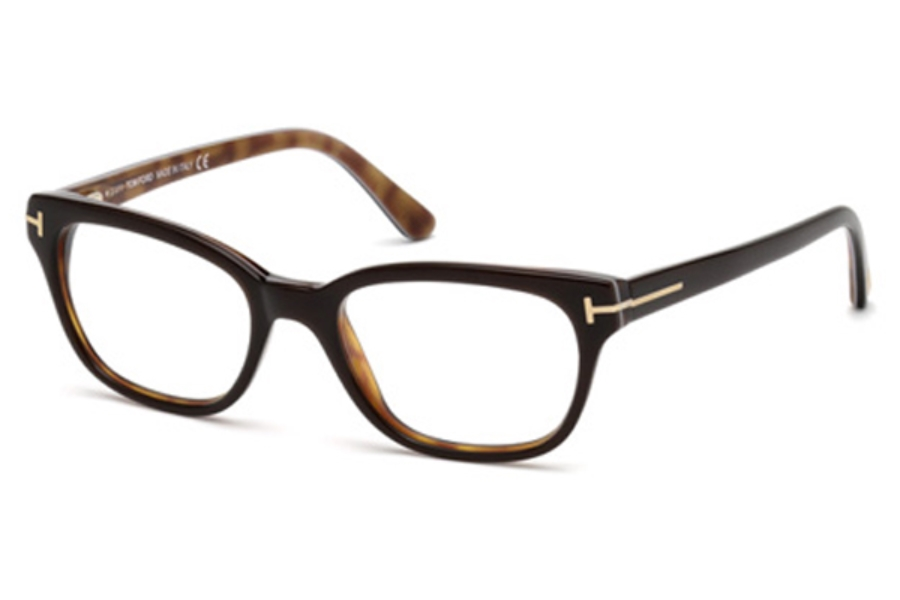 Tom Ford FT5207 Eyeglasses in 047 Dark Brown