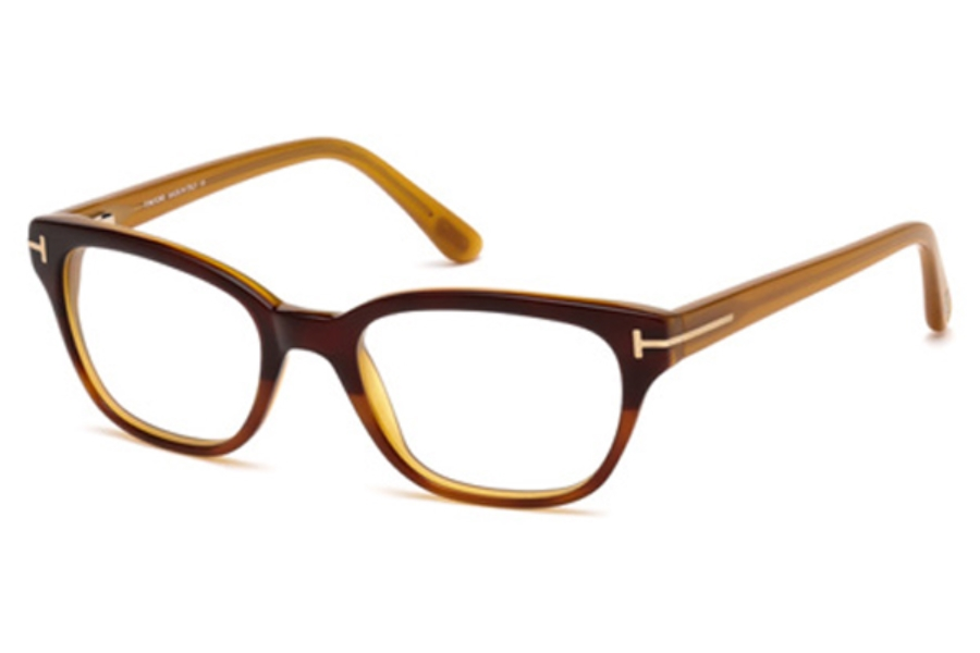 Tom Ford FT5207 Eyeglasses in 050 Brown Gradient Havana