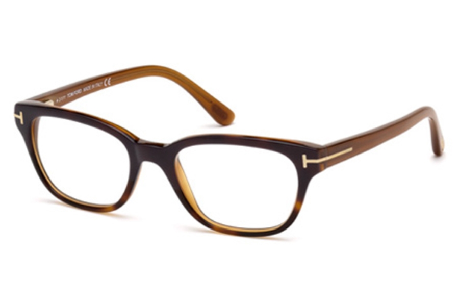 Tom Ford FT5207 Eyeglasses in 083 Dark Purple Havana