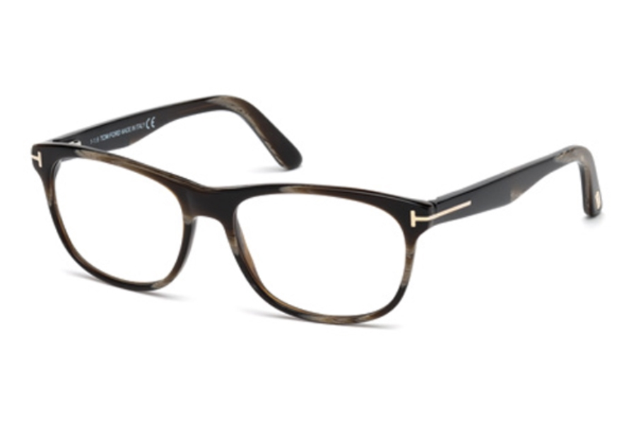 Tom Ford FT5431 Eyeglasses in 062 - Brown Horn