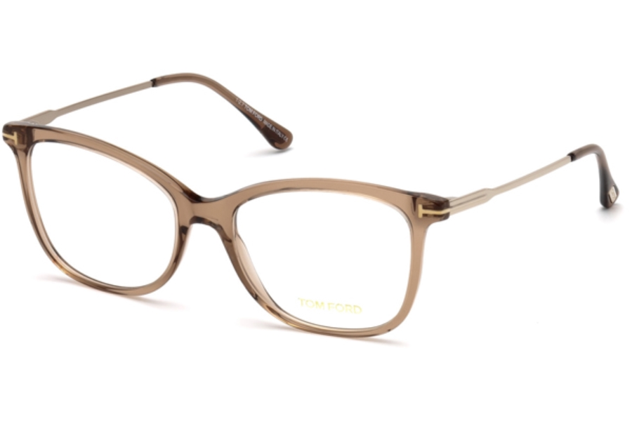 Tom Ford FT5510 Eyeglasses in 045 - Shiny Light Brown