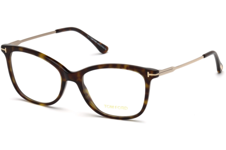 Tom Ford FT5510 Eyeglasses in 052 - Dark Havana