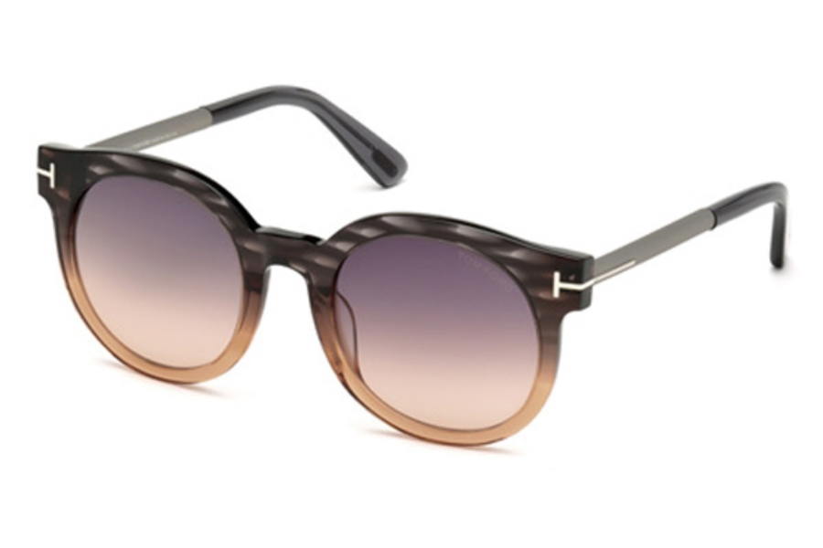 Tom Ford FT0435 Janina Sunglasses in 20B - Grey/Other / Gradient Smoke
