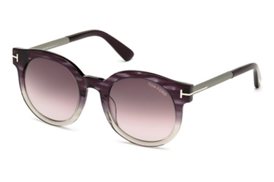 Tom Ford FT0435 Janina Sunglasses in 83T - Violet/Other / Gradient Bordeaux