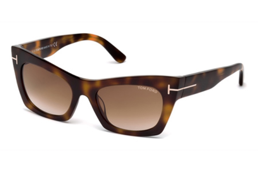 Tom Ford FT0459 Kasia Sunglasses in 56F - Havana/Other / Gradient Brown