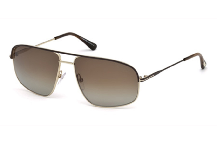 Tom Ford FT0467 Justin Sunglasses in 50H - Dark Brown/Other / Brown Polarized