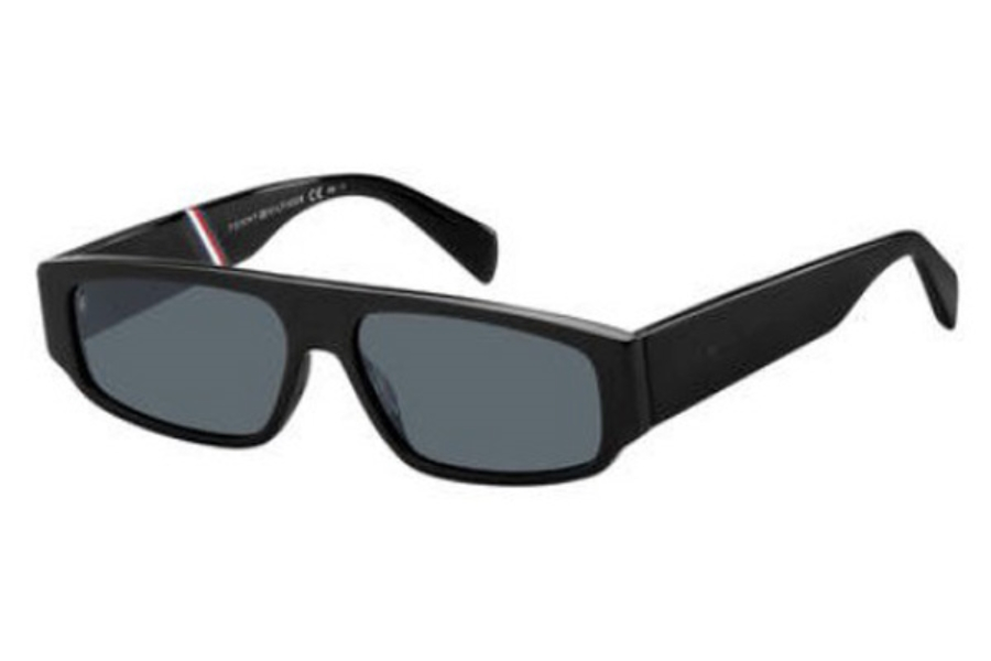 Tommy Hilfiger TH 1658/S Sunglasses in 0807 Black (IR gray blue lens)