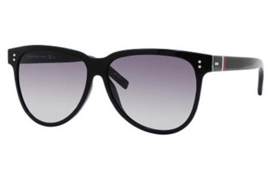 227daa2d395 Tommy Hilfiger TH 1083 S Sunglasses in 0D28 Shiny Black (EU gray gradient  lens ...