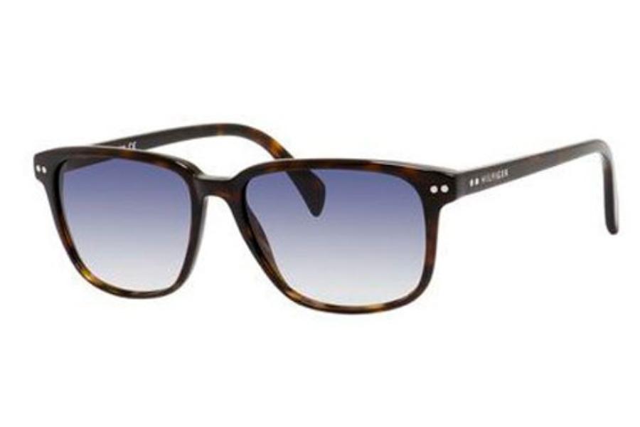 e7efc1a37 ... Tommy Hilfiger TH 1197/S Sunglasses in 0086 Dark Havana (08 dark blue  gradient ...