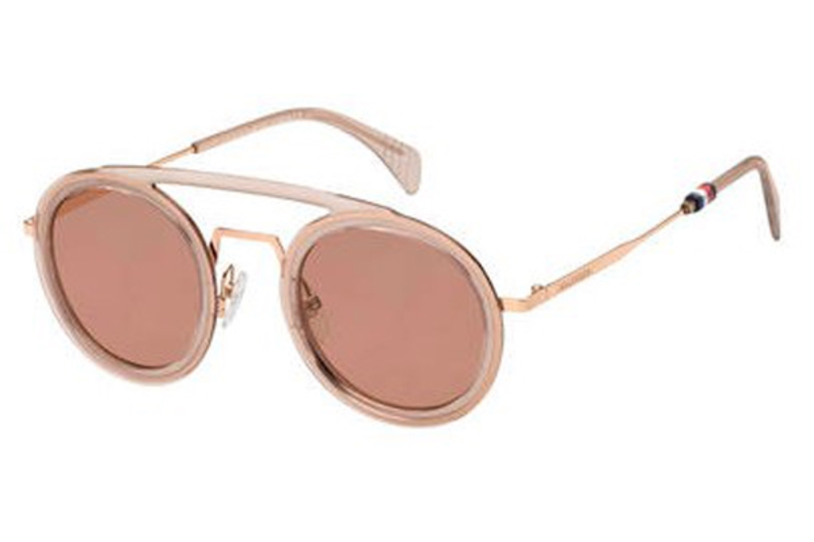 Tommy Hilfiger TH 1541/S Sunglasses in 035J Pink (4S burgundy lens)
