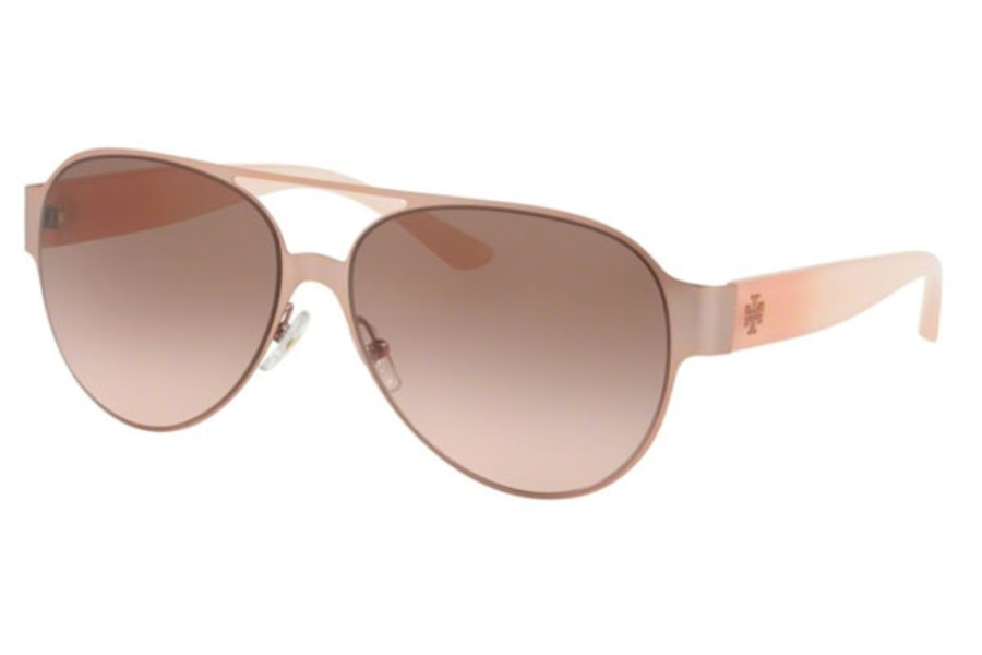 Tory Burch TY6066 Sunglasses in 325411 Rose Gold / Brown Rose