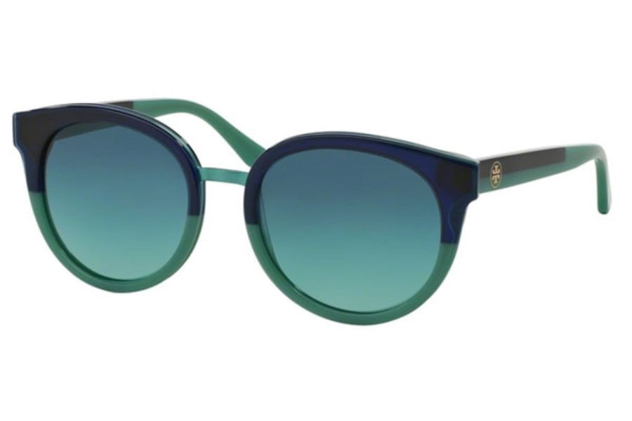Tory Burch TY7062 Sunglasses in 12404S Navy-Mint / Blue Teal Gradient (Discontinued)