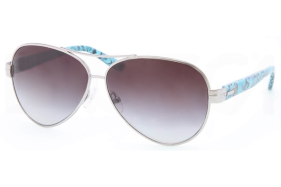 Tory Burch TY6031 Sunglasses in 10211 Silver Gray Gradient