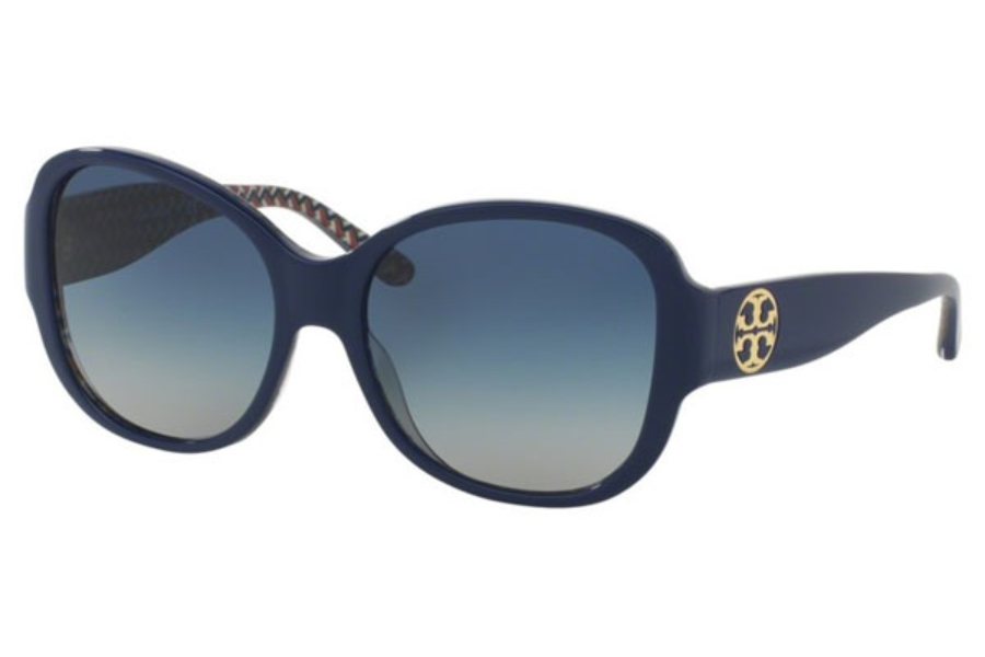 Tory Burch TY7108 Sunglasses in 16554L Navy/Blue Zig Zag / Blue Gradient