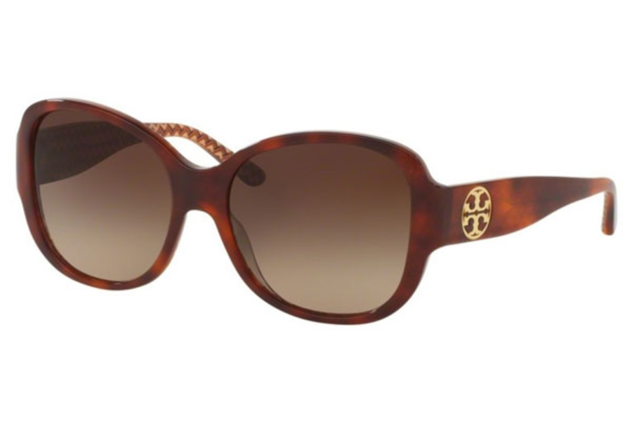 Tory Burch TY7108 Sunglasses in 165813 Tort/Orange Zig Zag / Dark Brown Gradient