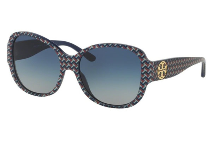 Tory Burch TY7108 Sunglasses in 16594L Blue Zig Zag/Navy / Blue Gradient