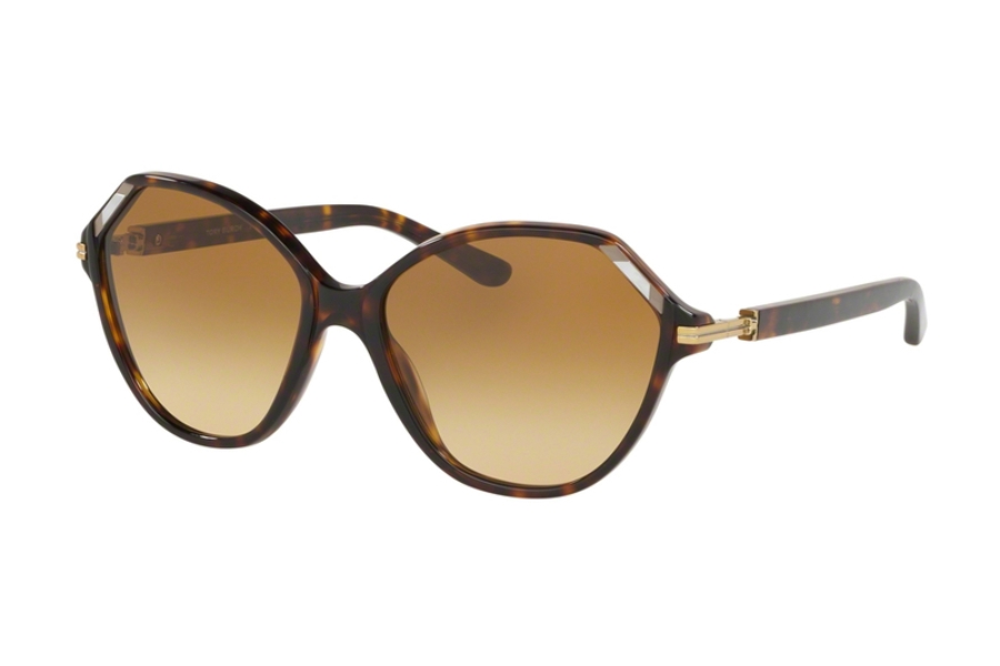 Tory Burch TY7138 Sunglasses in 17282L Dark Tortoise w/Brown Yellow Gradient