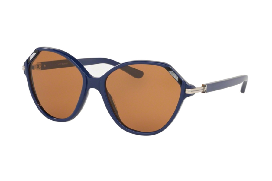 Tory Burch TY7138 Sunglasses in 178073 Navy w/Amber Solid