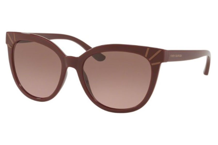 Tory Burch TY9051 Sunglasses in 168114 Bordeaux / Brown Rose Gradient
