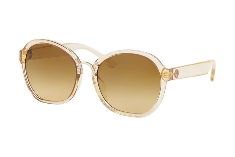 Tory Burch TY9056U Sunglasses in 17742L Transparent Honey w/Yellow Gradient