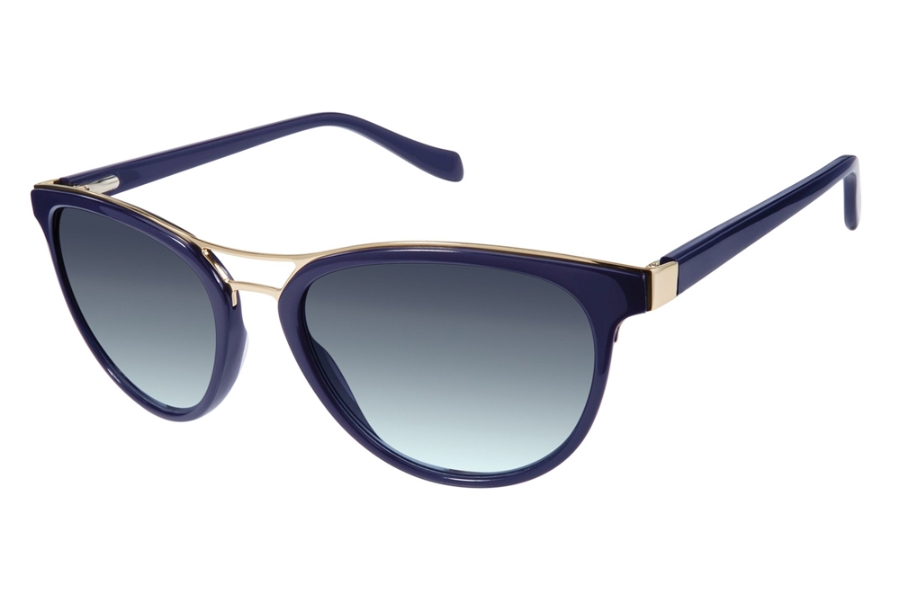Tura by Lara Spencer LS516 Sunglasses in NAV Blue