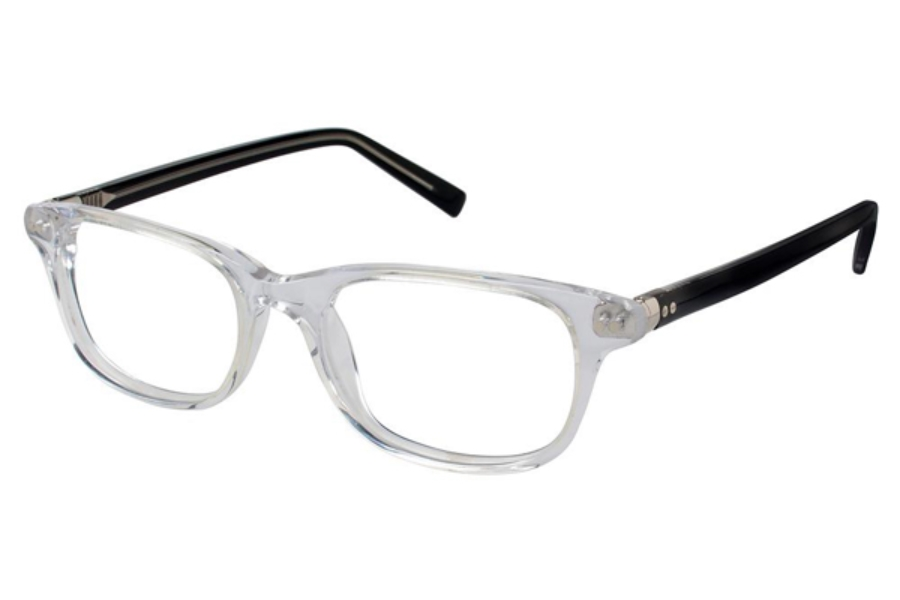 Tura Mens T143 Eyeglasses in CRY Crystal