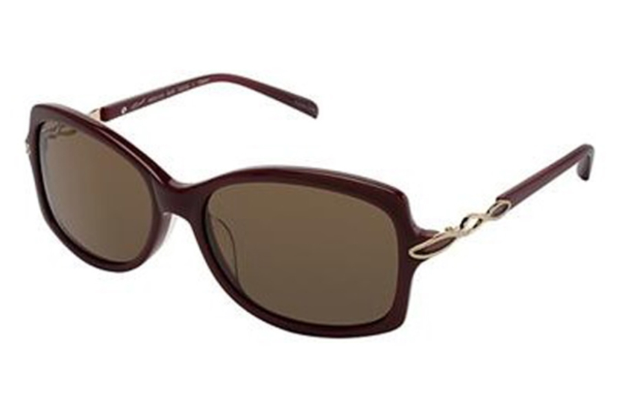 Tura 016 Sunglasses in BURGUNDY/SEMI MATTE GOLD