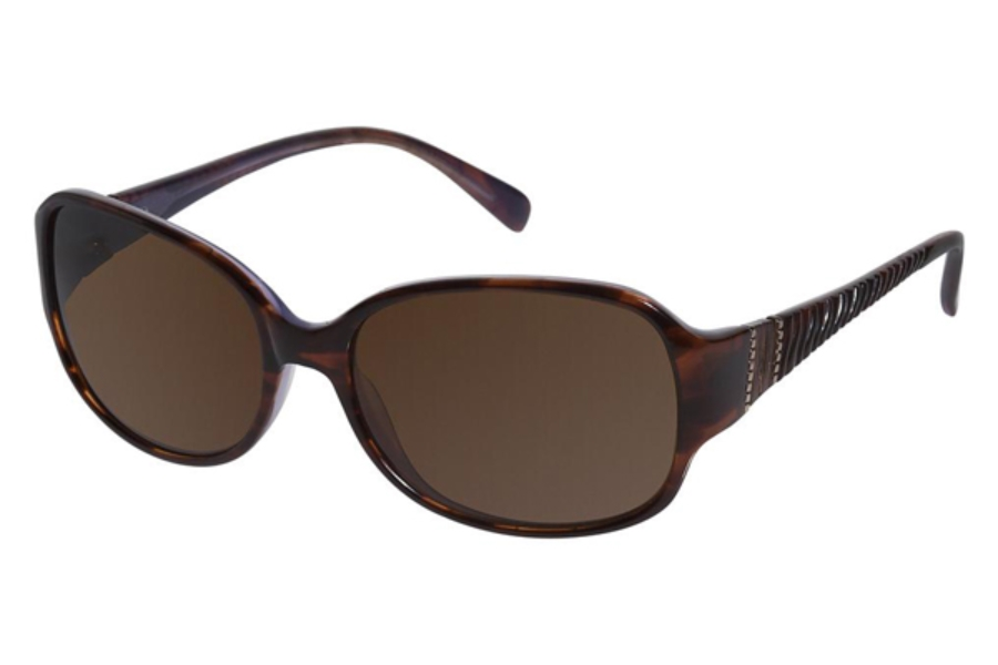 Tura 025 Sunglasses in Tortoise w/ Lavender Brown Double Gradient