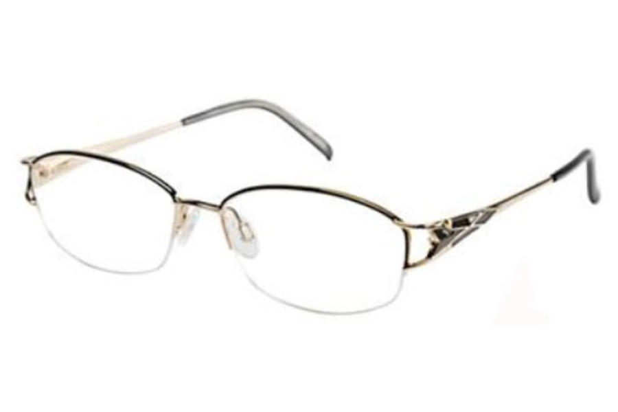 Tura 123 Eyeglasses in Charcoal/Gold (CHA)