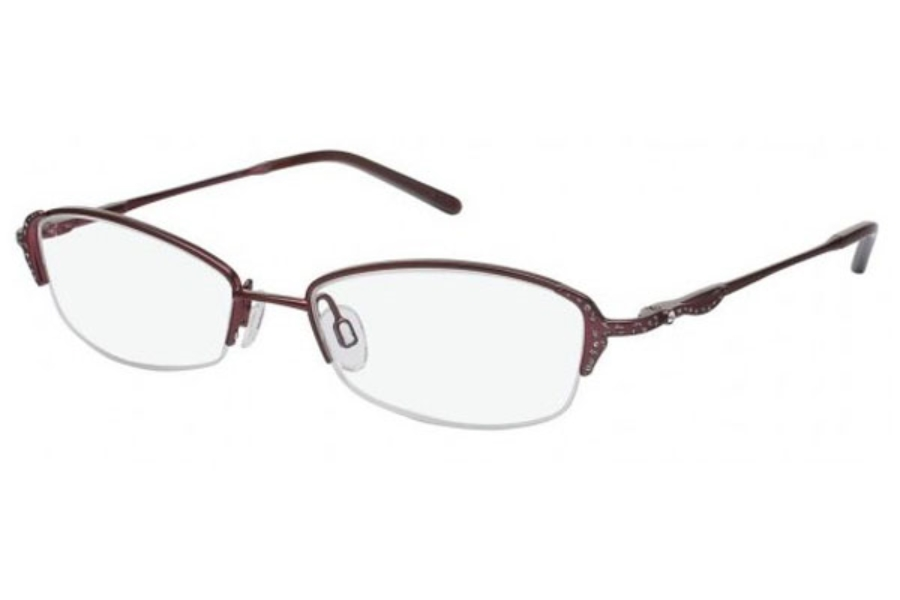 Tura 186 Eyeglasses in CRANBERRY (CRA)