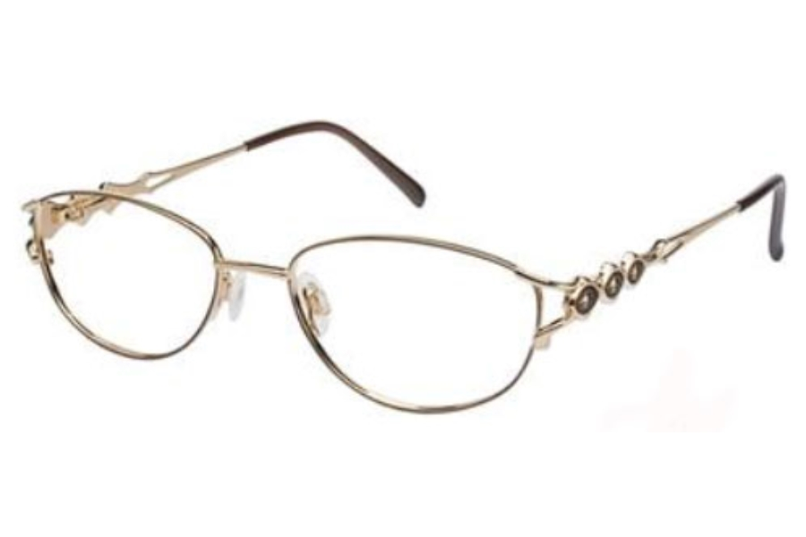 Tura 189 Eyeglasses in BROWN/GOLD