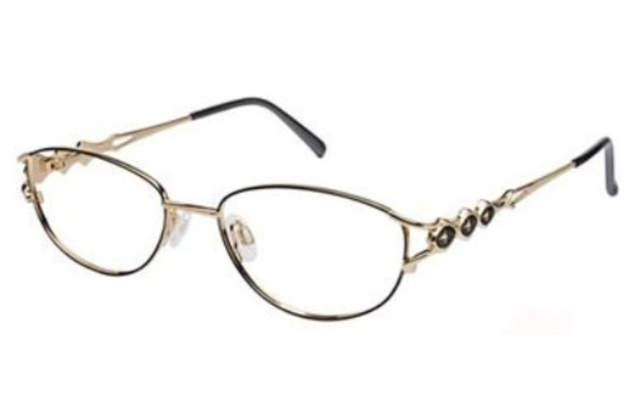 Tura 189 Eyeglasses in CHARCOAL/GOLD