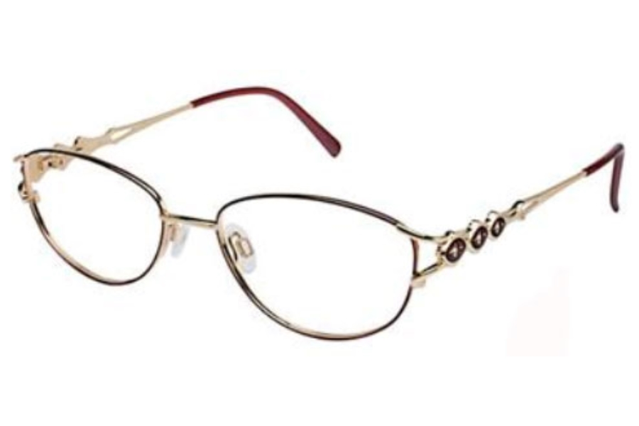 Tura 189 Eyeglasses in WINE/GOLD