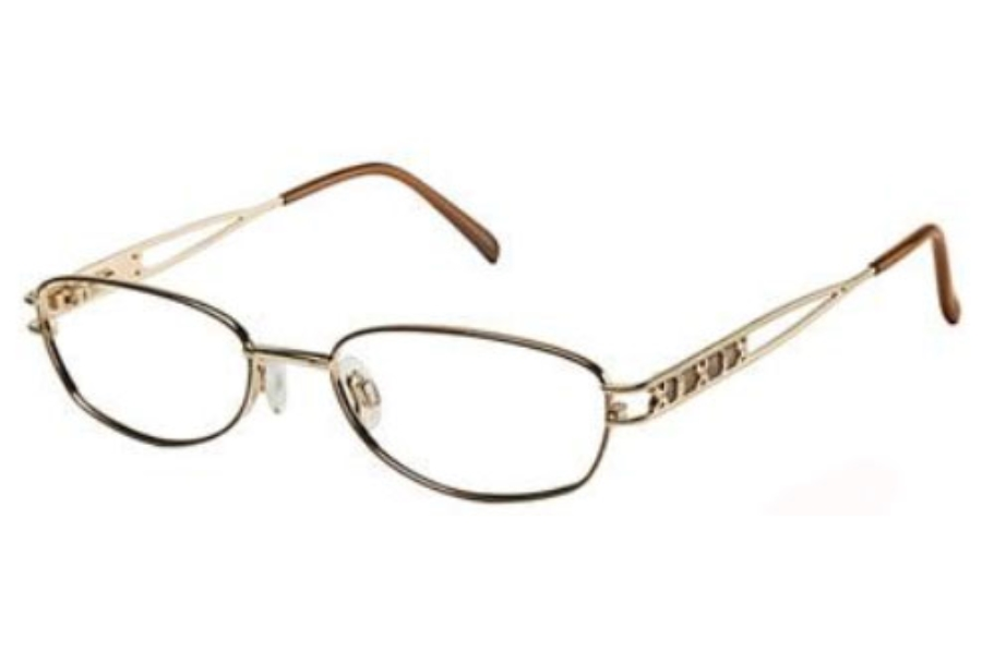 Tura 195 Eyeglasses in BROWN/GOLD