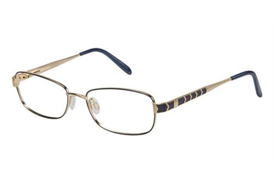 Tura 516 Eyeglasses in NAVY/GOLD (NAV)