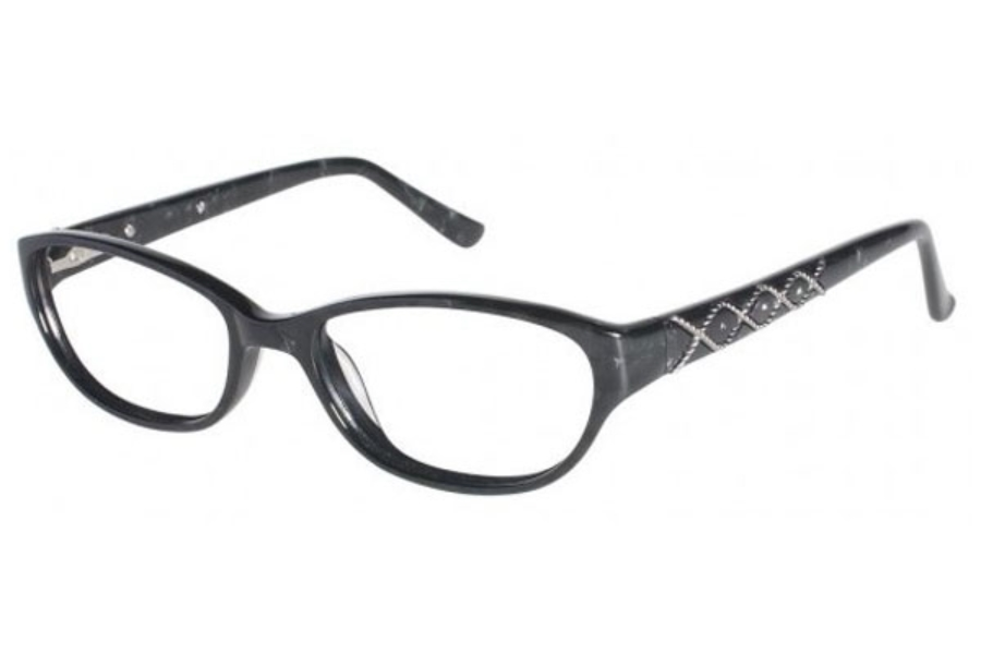 Tura 668 Eyeglasses in Black Marble (BLK)
