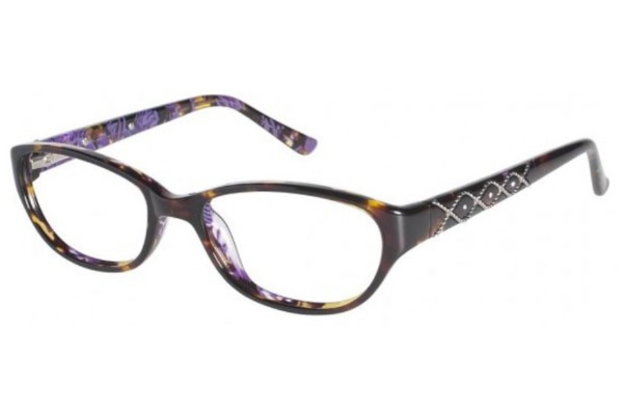 Tura 668 Eyeglasses in Tortoise w/ Purple (TOR)