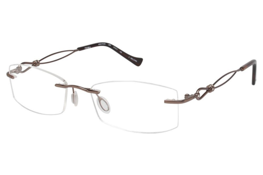 Tura R123A Eyeglasses in LBR Light Brown
