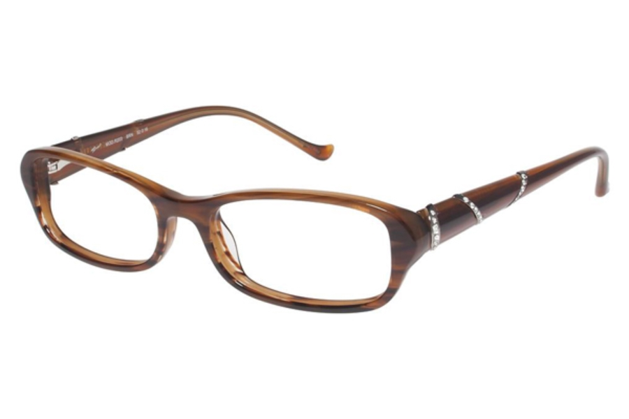 Tura R203 Eyeglasses in BROWN HORN (BRN)