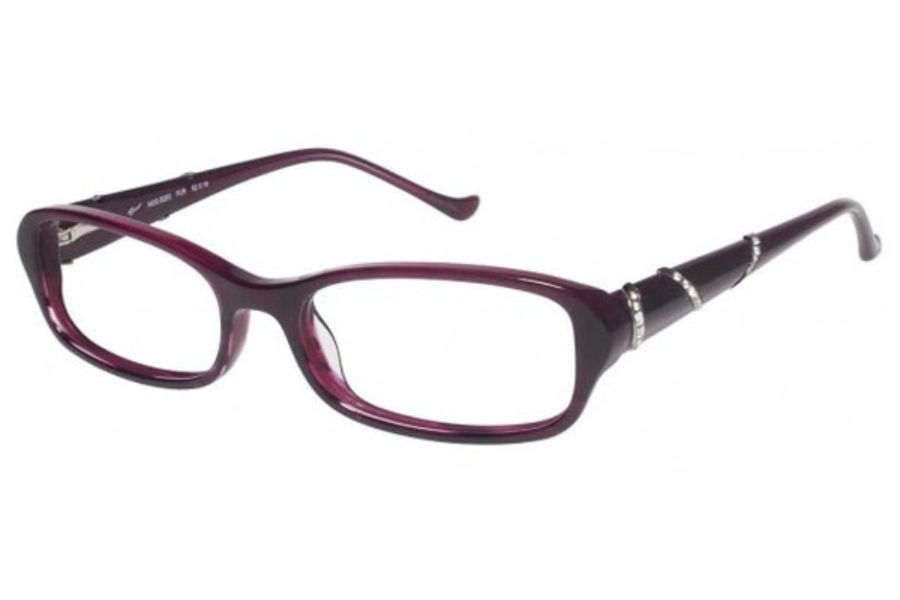 Tura R203 Eyeglasses in PURPLE HORN (PUR)