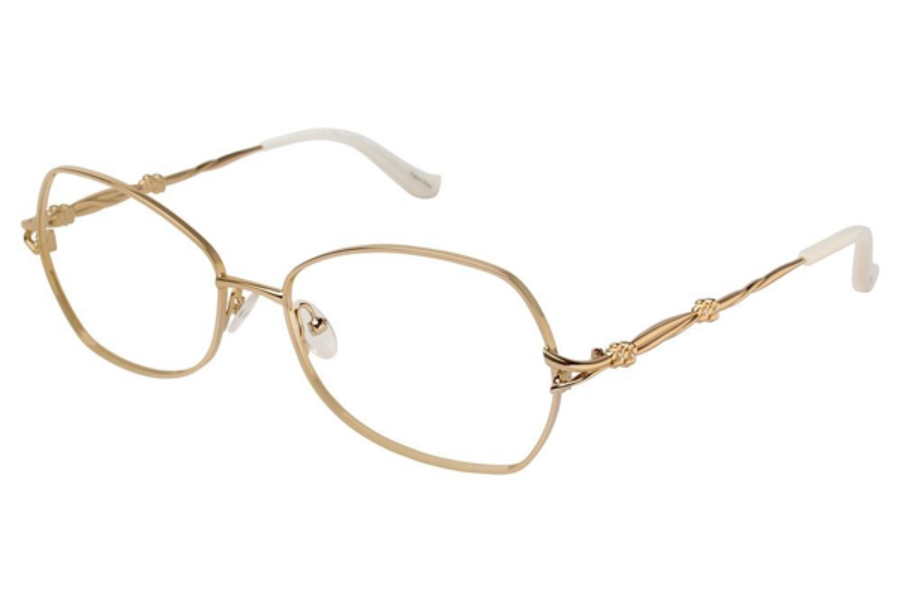 Tura R209 Eyeglasses in GLD Gold