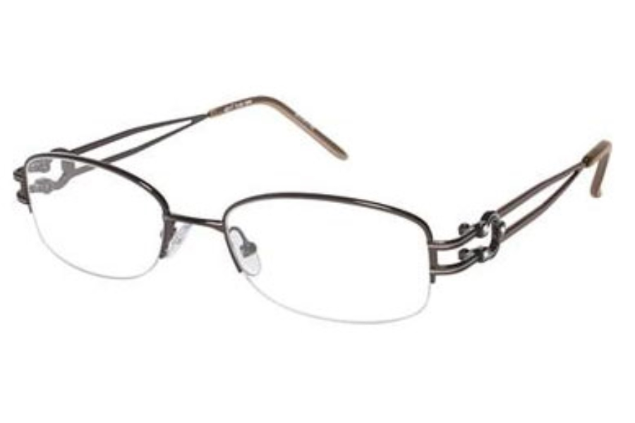 Tura R301 Eyeglasses in Brown (BRN)