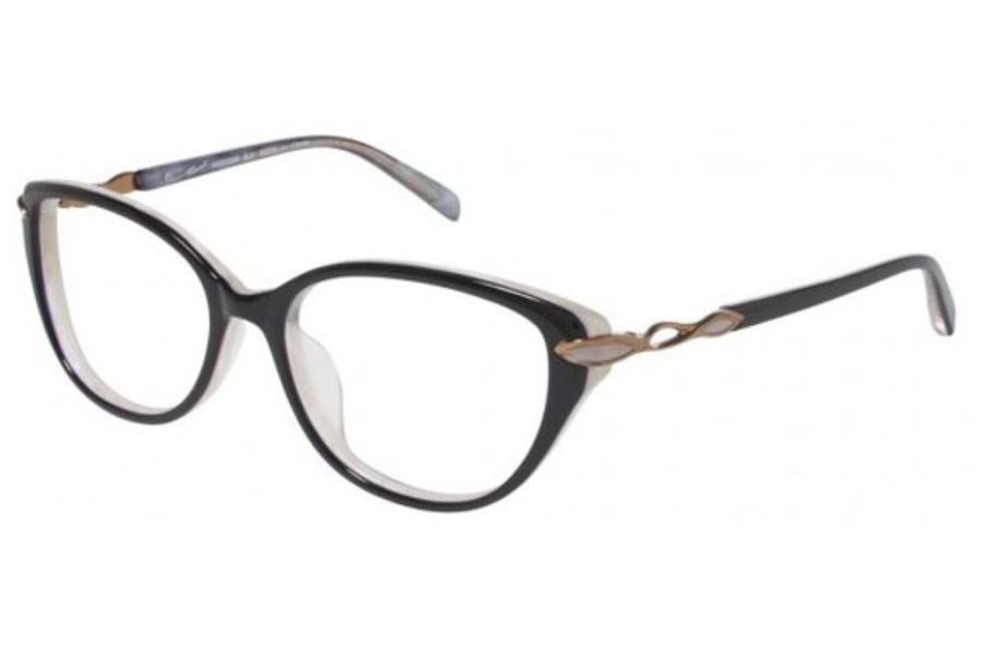 Tura R306 Eyeglasses in Black with gold (BLK)