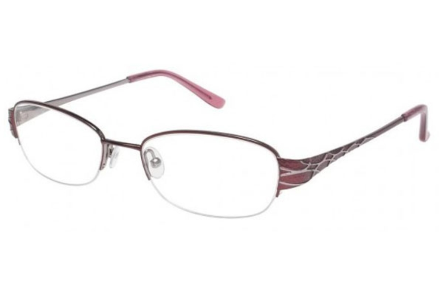 Tura R402 Eyeglasses in BURGUNDY (BUR)