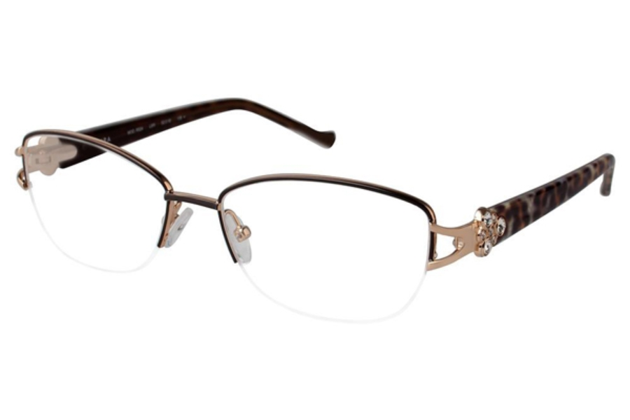 Tura R524 Eyeglasses in LBR Light Brown (Discontinued)