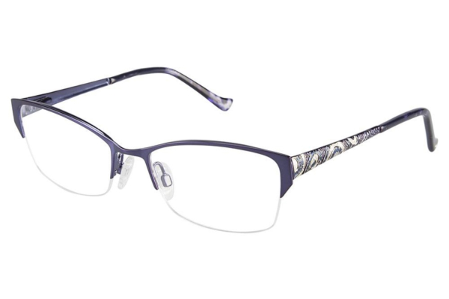 Tura R537 Eyeglasses in NAV Navy