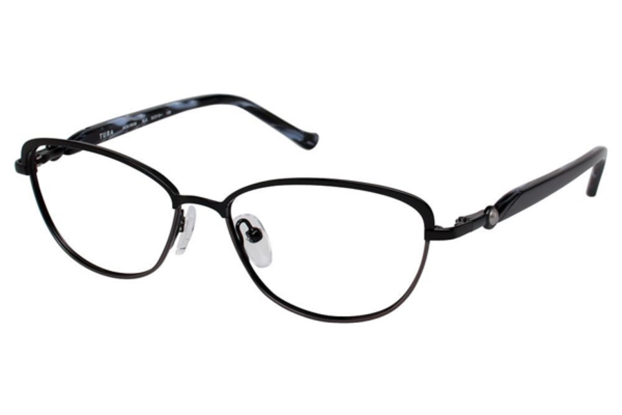 Tura R538 Eyeglasses in BLK Black/Gun