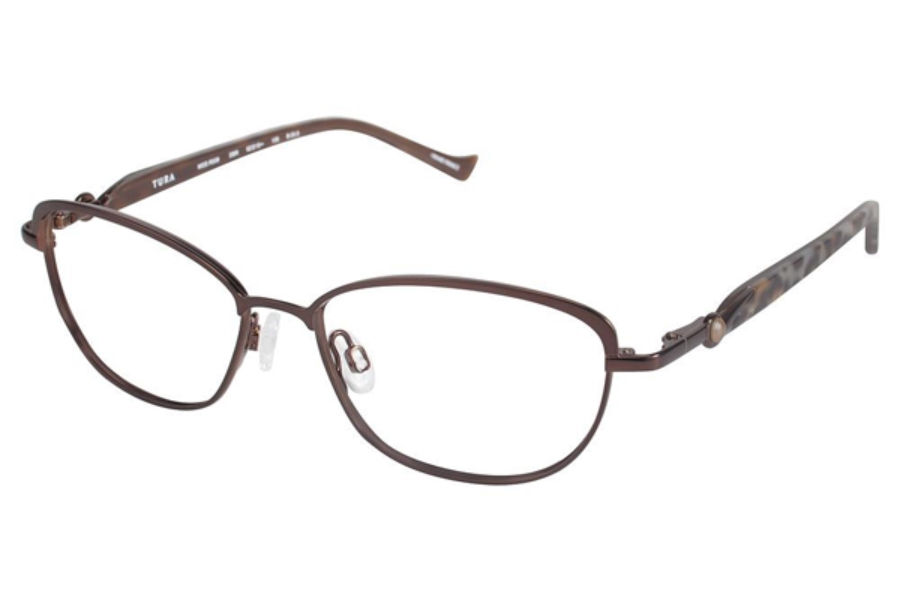 Tura R538 Eyeglasses in DBR Dark Brown
